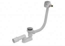 RAVAK сифон для ванны с заполнением переливом удлиненный Click Clack, хром X01505